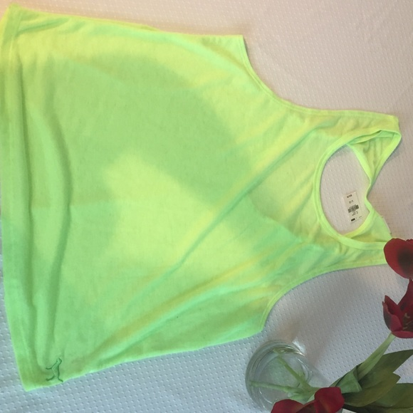 PINK Victoria's Secret Tops - Pink Victoria's Secret Green-Yellow Muscle Tee