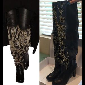 Thomas Wylde Shoes - Thomas Wylde leather black boots sz 10 Nwt
