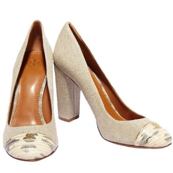 Tory Burch Woman Snake-effect And Metallic Leather Pumps Gold Size 10 Tory Burch l1Q5BEWR