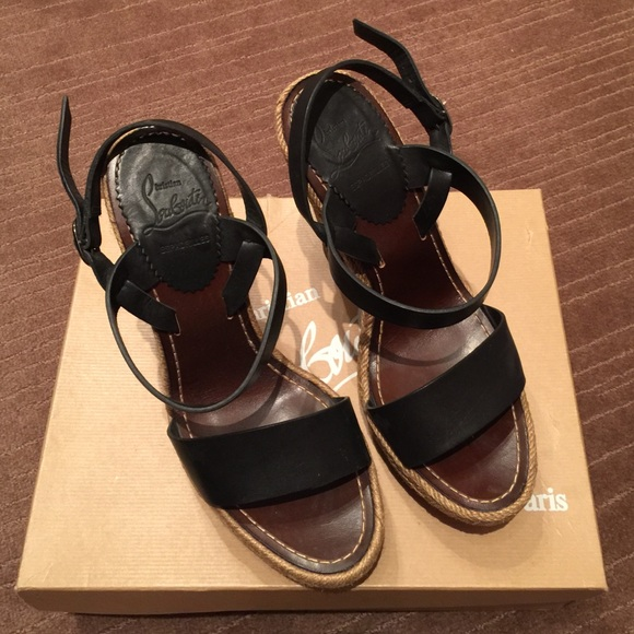 cfc4617b5d3 Christian Louboutin Shoes - Christian louboutin Satrinxa wooden platform  heels
