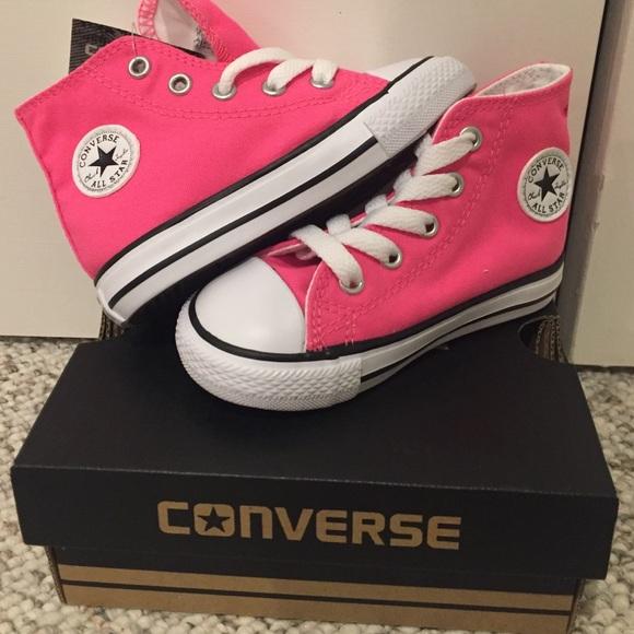 a30e846813275c Kids Converse All Star high tops. Hot Pink. Size 6