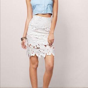 Tobi White Lace Skirt