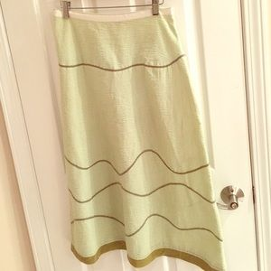 Neesh by Dar Anthropologie long green cotton skirt