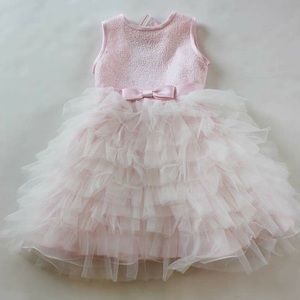Joan Calabrese Other - Joan Calabrese pink sequin flower girl dress