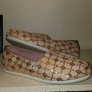 Rose Gold Sequins Classic Toms
