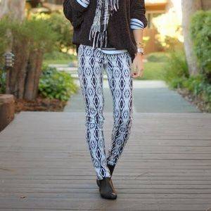 Like NEW H&M Aztec print black and white pants