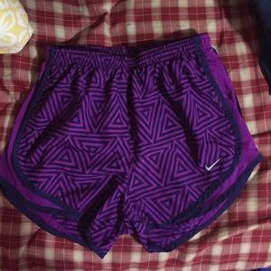 Nike purple with triangles shorts