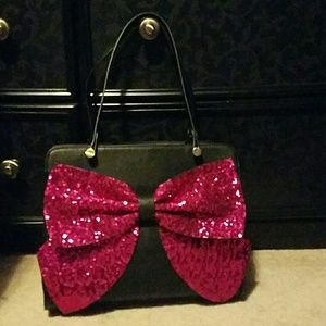 Betsey Johnson Sequin Bow Bag