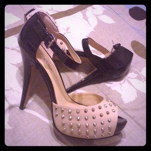 Rock & Republic Shoes - Studded Peeptoe Pumps👑