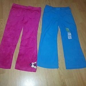 New velour and fleece sweat pants