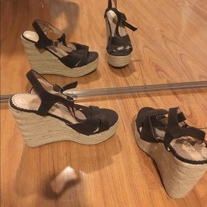 Anna Scholz Shoes - Brown wedge shoes