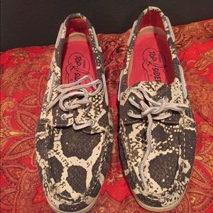 BRAND NEW Snake print Sperry Top-Siders