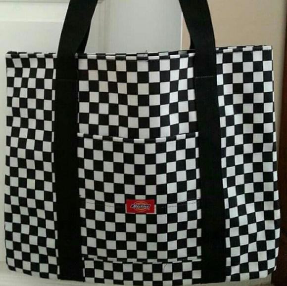 13bd118f5 Dickies Handbags - Dickies Checkered Tote Bag