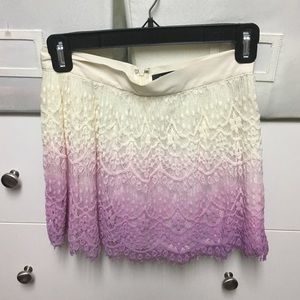 Mini Ombré Lace Skirt