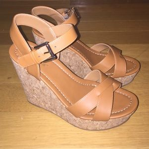 Shoes - Caramel Wedges