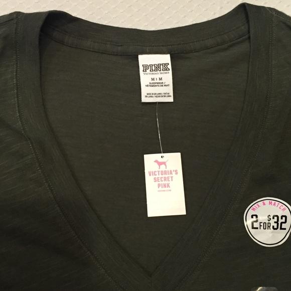 PINK Victoria's Secret Tops - Pink Victoria's Secret V- Neck Tee Shirt