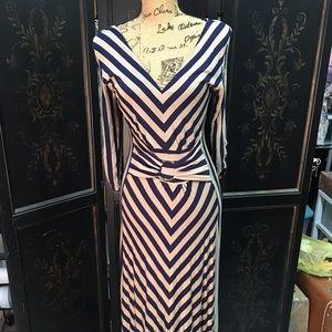 2b05b9f79 Liz Lange Dresses - LOWEST PRICE! Striped Maxi dress - navy   tan