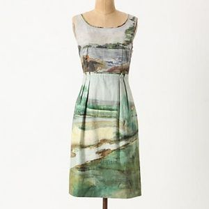 Anthropologie Dresses - RARE Anthropologie Odille Artist's Rendering Dress