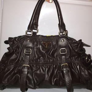replica prada bags uk - 89% off Prada Handbags - Prada Luna Rossa Mariner Duffle Bag from ...