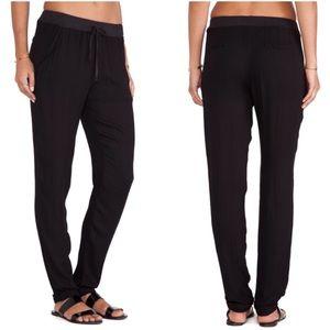 LAmade Pants - LAmade Black Drawstring Slim Lounge Pants