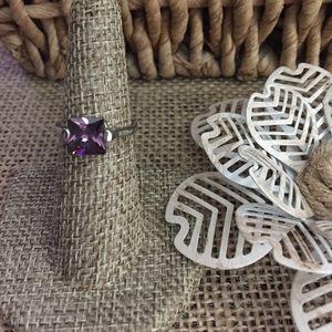 Purple CZ Ring