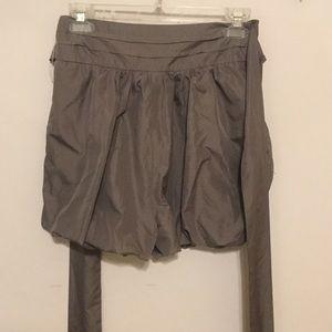 Verty Shorts - Verty Gray Bubble Hem Shorts