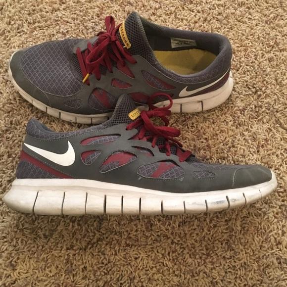 Nike Free Run Maroon Livestrong 5