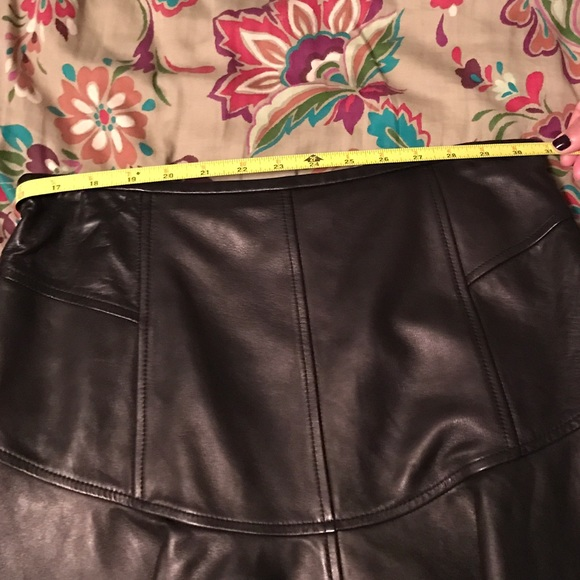 Diane Von Furstenberg Leather Skirt 56