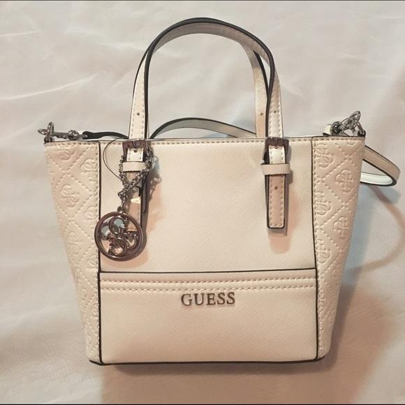 baf76efbaabf GUESS Handbags - NWT Guess White Delaney Mini Tote