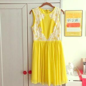 Ted Baker Yellow Vember Dress