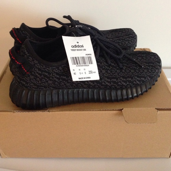 13dee4d9ce500 NWT Yeezy Boost 350 Pirate Black Size 7!