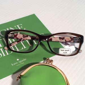 Price Drop!❤️Kate Spade +2.50 Reading Glasses