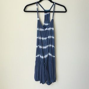 Blue Life Dresses & Skirts - Blue and White Tie Dye Romper