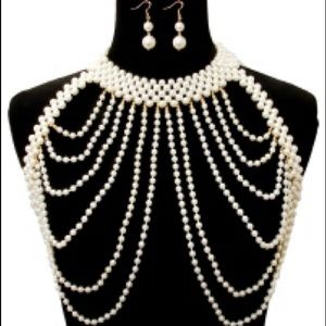 Jewelry - Multilayered Pearl Body Chain