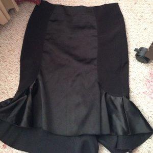 Black knee length skirt