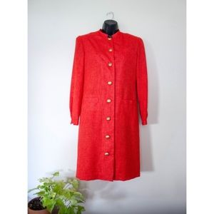 Vintage Red Blazer Jacket Coat