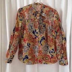 ⛵️ VINTAGE Crazy hippie floral print shirt ⛵️