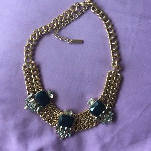 Jewelmint Jewelry - Gold necklace w navy accent