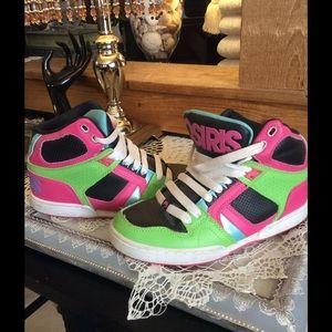 79 osiris shoes osiris skateing shoes pink and blue