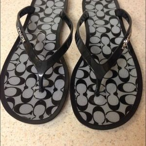 fe2d7313b3b8 Coach Shoes - COACH LYRA Jelly Signature Thong Flip-Flop Sandals
