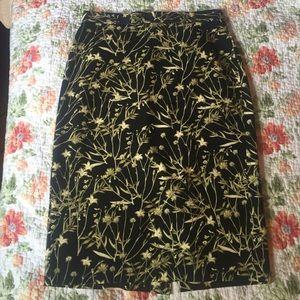 2 Banana Republic Sloan floral pencil skirt