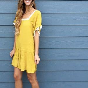 | new | tassel sleeve dress