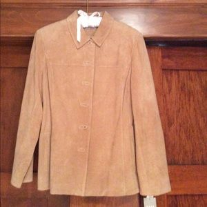 Kate Hill Jackets & Blazers - Suede jacket for Spring!    NWT!