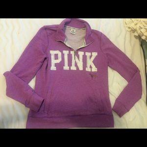 Victoria's Secret PINK half zip sweater