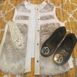 Miss Me, white fur vest, NWOT, size medium