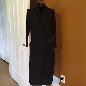 Alfani black dress with 3/4 sleeve
