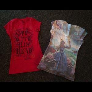 2 Alice and Wonderland Shirts