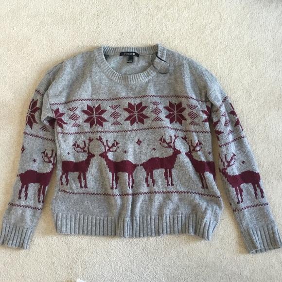 Women's Ugly Christmas Sweater Forever 21 on Poshmark