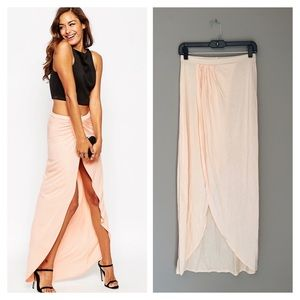 ASOS wrap maxi skirt