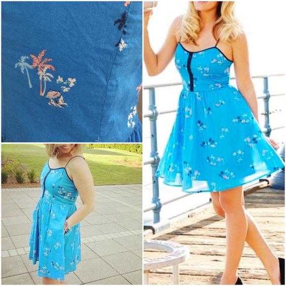 a18ae12af2 LC Lauren Conrad Dresses & Skirts - EUC LC Lauren Conrad Beach Palm Tree  Boats Dress